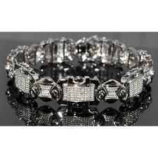 black diamonds bracelet images Diamond bracelet 0 75ct real diamonds white gold finish sterling jpg