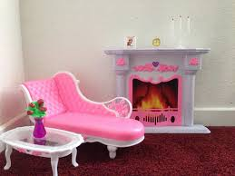 amazon com barbie size dollhouse furniture living room fire