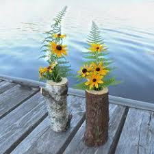 wood log vases wood log flower vase or woodland wedding rustic