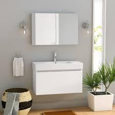 brayden studio frausto 39 single bathroom vanity set with white