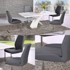 Grey Leather Dining Chair Mariya Grey Leather Dining Chair Furniture Mill Outlet
