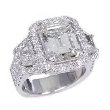 engagement rings atlanta 18k white gold 5 18ct emerald cut engagement ring sherry s