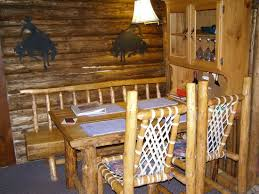 Log Cabin Dining Room Furniture Small Dining Table U0026 Homemade Chairs Picture Of Anne Kent Cabins