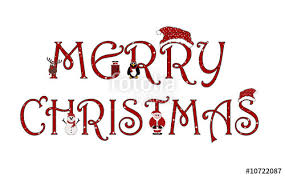 merry christmas sign merry christmas sign with animations isolated on white stock