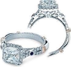sapphire accent engagement rings verragio halo twist engagement ring with sapphire accents cl dl109p