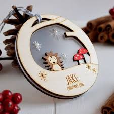 Personalised Reindeer Christmas Tree Decorations by Personalised Christmas Tree Baubles