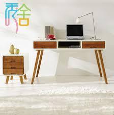 Modern Wooden Desks Korean Study Show Homes Modern Minimalist Wood Desk With Drawers