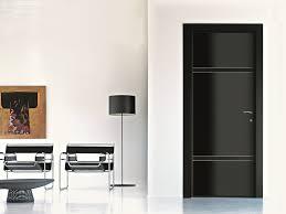 low sheen glossy black interior door doors living room rustic mid