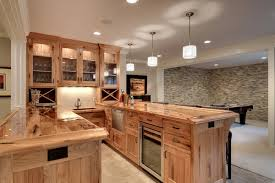 Basement Kitchen Ideas 33 Best Ideas Hickory Cabinets For Naturally Beautiful Kitchen
