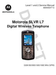 motorola l7 slvr service manual level 1 and 2 electrical