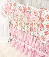felicity u0027s pink vintage floral bumperless crib bedding caden lane