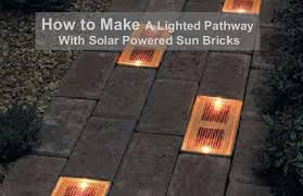 How To Make A Solar Light - how to make a lighted pathway with solar powered sun bricks home
