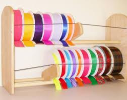 spools of ribbon ribbon storage etsy