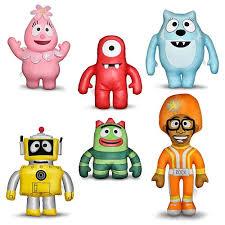 Yo Gabba Gabba Bed Set Yo Gabba Gabba 12 Inch Designer Plush Ppw Toys Yo Gabba