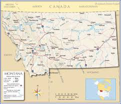 Idaho Time Zone Map Reference Map Of Montana Usa Nations Online Project