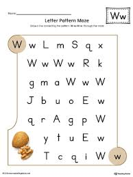 letter w beginning sound picture match worksheet color
