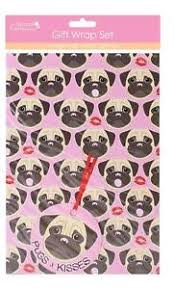 pug wrapping paper 2 x sheets gift wrap wrapping paper football pugs elephants whales