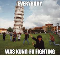 Kung Fu Meme - everybody was kung fu fighting kung fu meme on me me