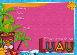 Printable Hawaiian Decorations Hawaiian Themed Party Invitation Templates Home Party Theme Ideas