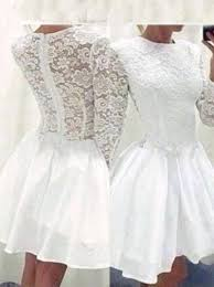 buy a line jewel long sleeves white short lace homecoming party