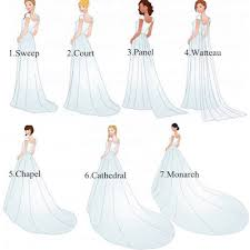 wedding dress type 7 types of wedding trains wedding wedding wedding