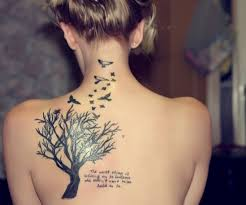 black tree and birds on back tattoos book 65 000