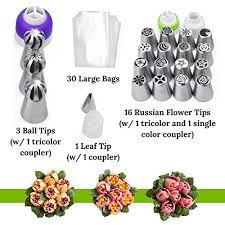 flower decorating tips amazon com russian piping tips for flower icing decorating 4