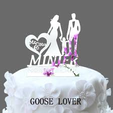 wedding cake name personalized name date wedding cake topper silhouette and