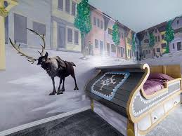 Frozen Kids Room by Twin Sleigh Bed Has A Trundle Frozen Room Has 5 Twin Mattresses