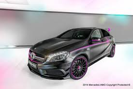 pink mercedes mercedes a 45 amg by amg performance studiotuningcult