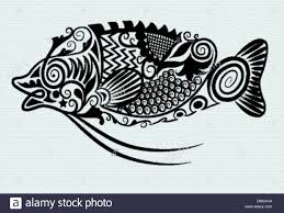 fish ornament vector 1 stock vector illustration vector