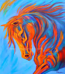 Colorful Painting by Abstract Horse Paintings Large Colorful Abstract Horse Painting