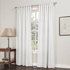 White Tab Top Curtains White Tab Top Curtains