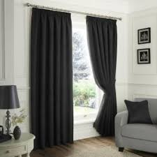 Black Eyelet Curtains 66 X 90 90