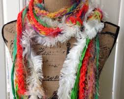 bright colors scarf etsy