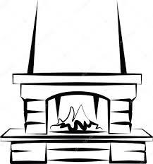 simple illustration of a fireplace u2014 stock vector maximmmmum