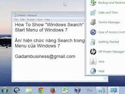 Windows Search Box - show search box in start menu of windows 7 youtube