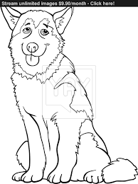 husky or malamute dog cartoon for coloring vector yayimages com