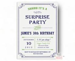 surprise 60th birthday surprise birthday invitations printable surprise 30th