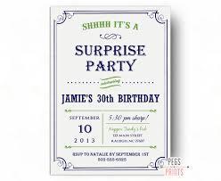 surprise birthday invitations printable surprise 30th