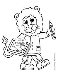coloring page schoolboy coloring page for kids printable free