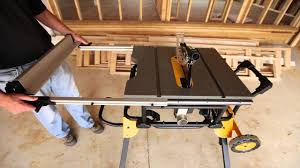 dewalt 10 portable table saw quick and easy table saw set up youtube