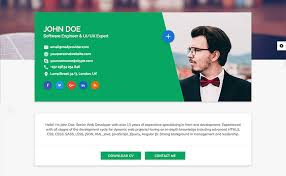 resume website template best html resume templates for awesome personal