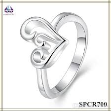 wedding ring model new model wedding ring silver plating hollow out heart shape