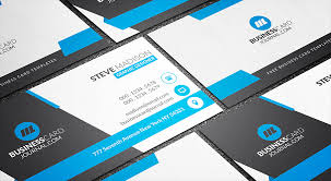free stunning blue corporate business card template