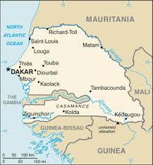 africa map senegal the world factbook central intelligence agency