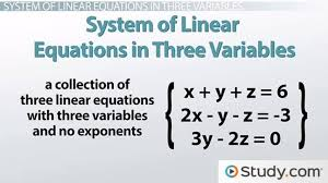 solving systems of linear equations in three variables using