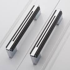 kitchen furniture handles 160mm black silver simple fashion furniture handles chrome kitchen