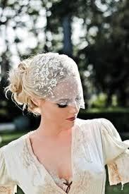 voilette mariage voilette mariage à plumetis de style rétro et maquillage des yeux