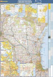 Wisconsin State Map by 48x70 Wisconsin State Official Executive Laminated Wall Map Wi